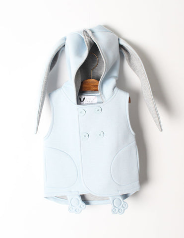 Bunny Sleeveless Jacket Blue