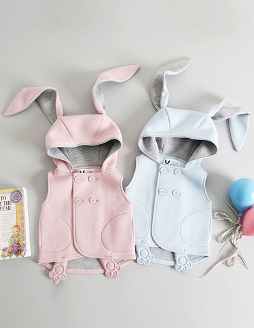Bunny Sleeveless Jacket Pink