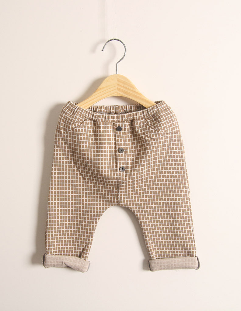 Checked Trousers Brown