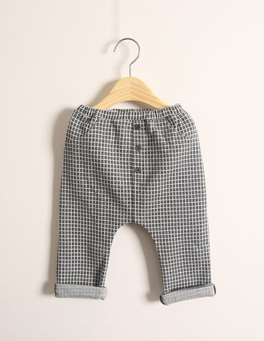 Checked Trousers Charcoal