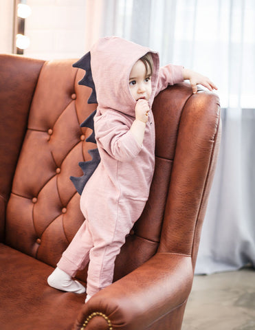 Dino Jumpsuit Pink