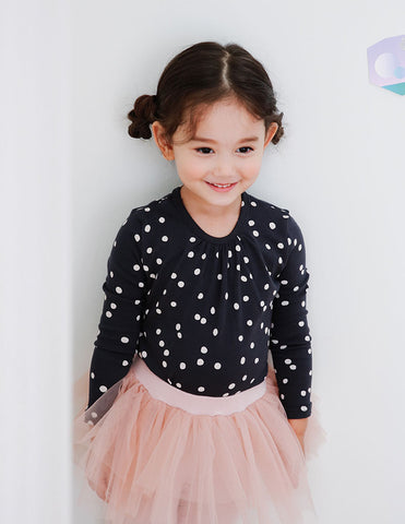 Dotted Blouse Black