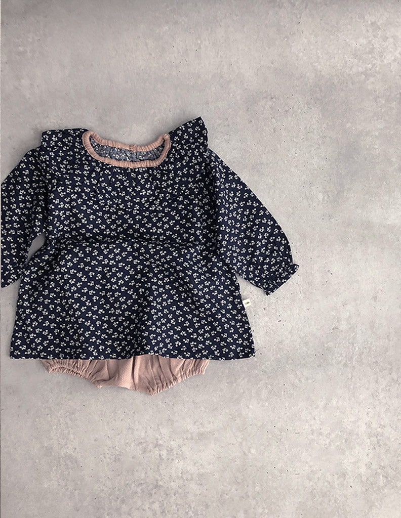 Flower Cara Blouse Navy