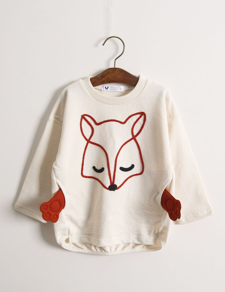 Fox Paw Jumper Cream