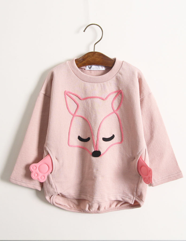 Fox Paw Jumper Pink
