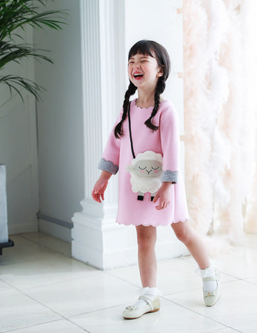 Little Lamb Pocket Dress Pink