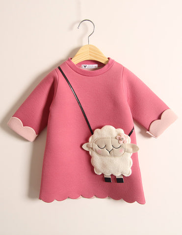 Little Lamb Pocket Winter Tunic Fuchsia
