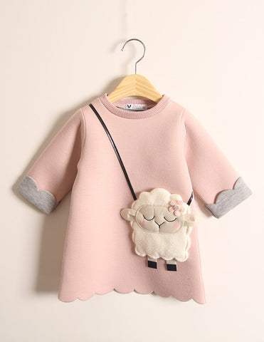 Little Lamb Pocket Winter Tunic Pink