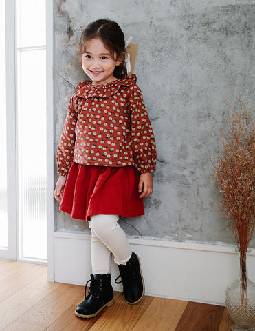 Little Pear Blouse Burgundy