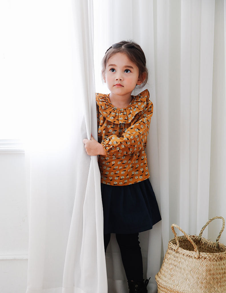 Little Pear Blouse Mustard