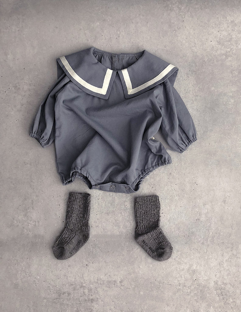 Maren Suit Romper Grey