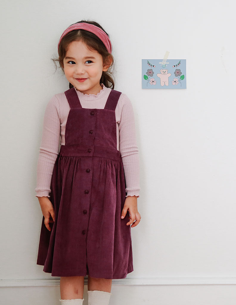 Maxi Suspender Dress Mauve