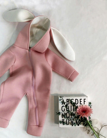 Bunny Ear Jumpsuit Pink