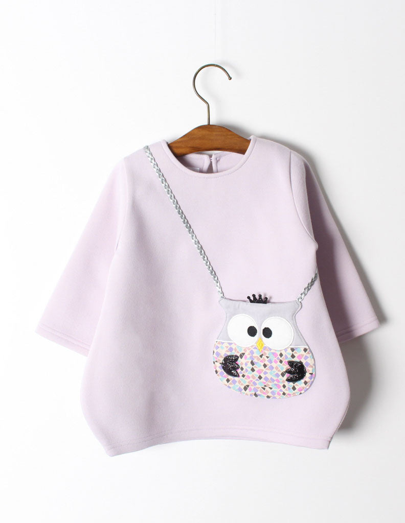 Owl Pocket Tunic Lilac