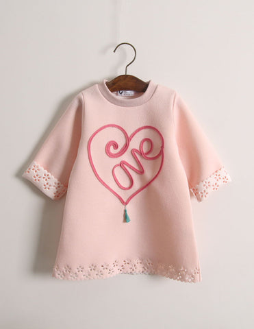 Punched Heart Tunic Pink