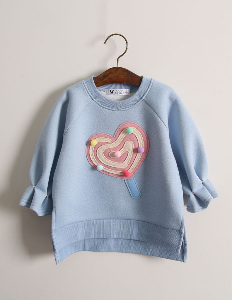 Pom-Pom Lollipop Jumper Blue