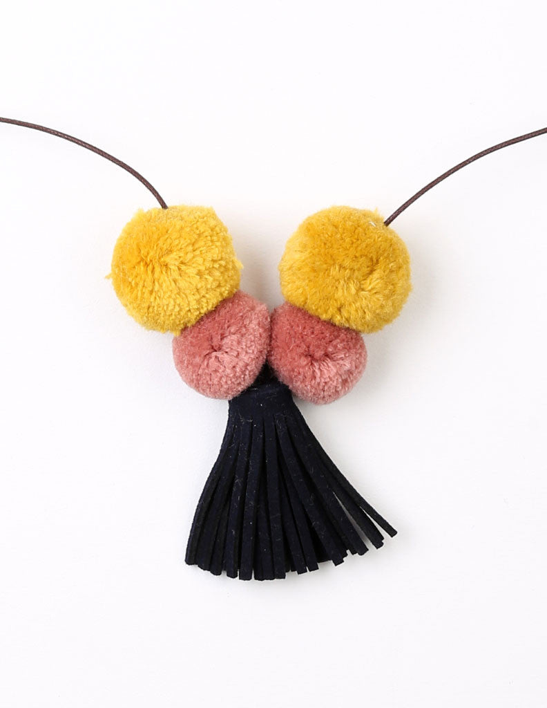 Pom-Pom Tassel Necklace