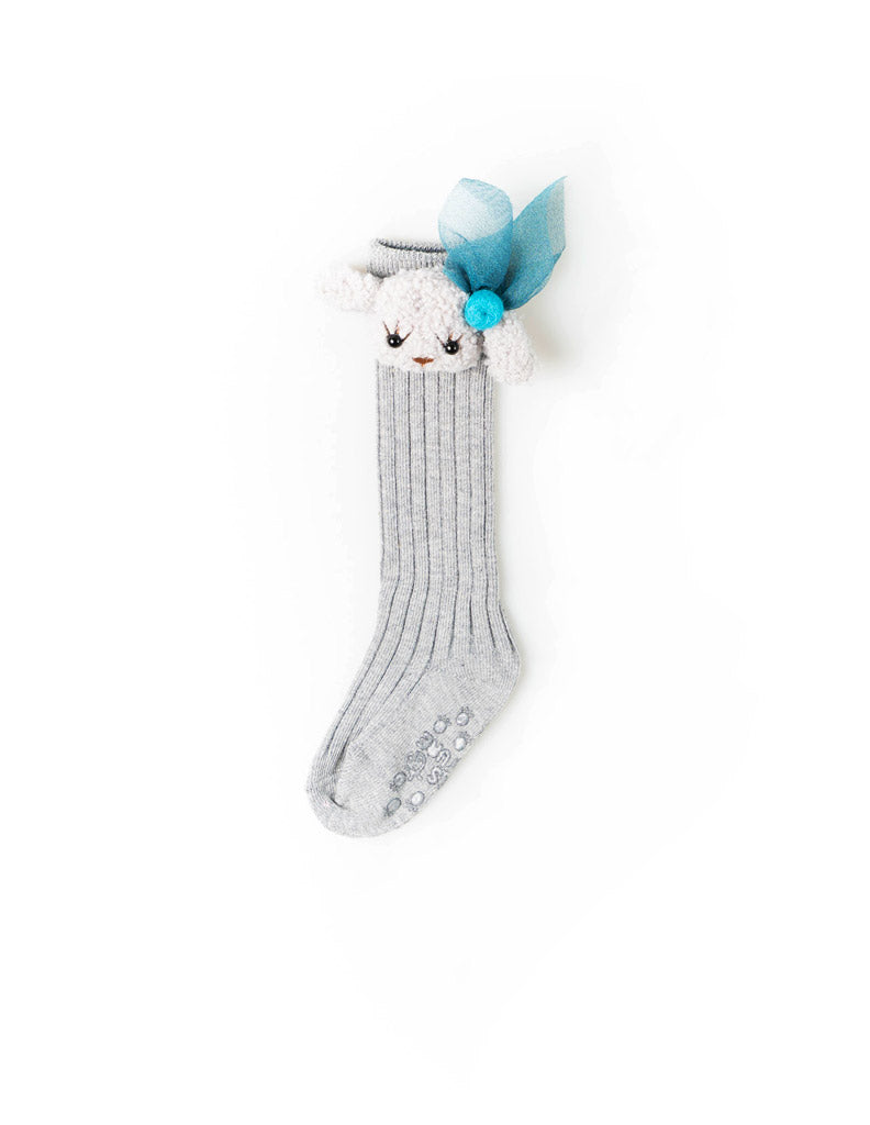 Puppy Knee Socks Grey
