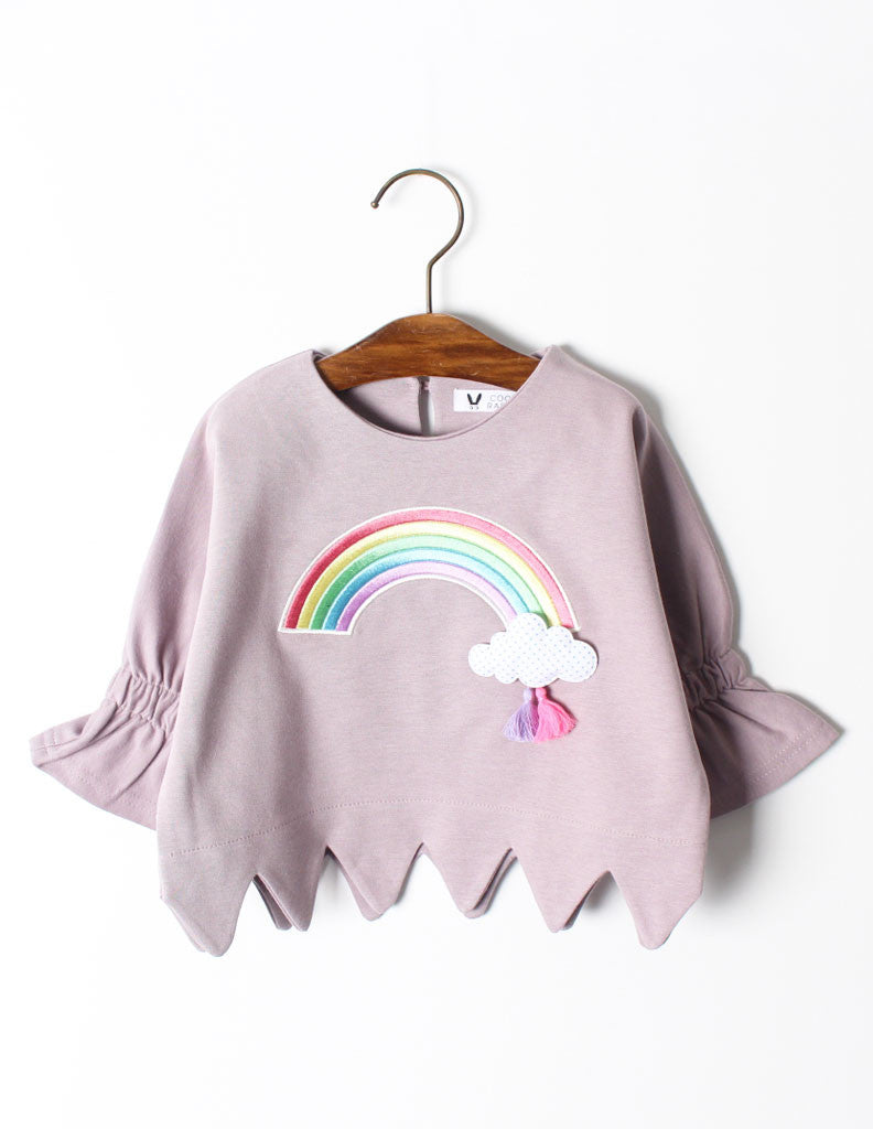 Rainbow Jumper Mauve