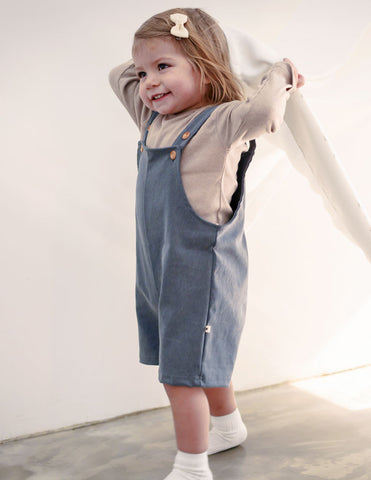 Shortie Dungarees Grey