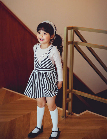 Skater Dress Striped Black