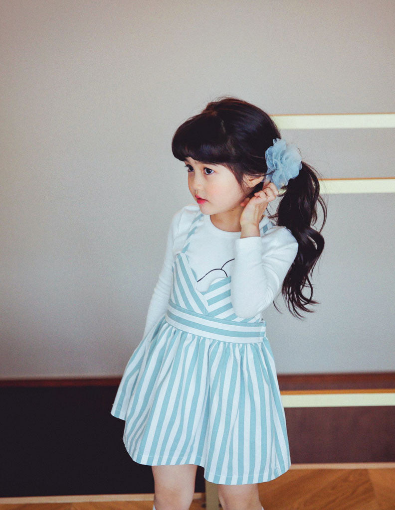 Skater Dress Striped Blue