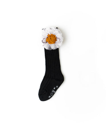 Sunflower Knee Socks Black
