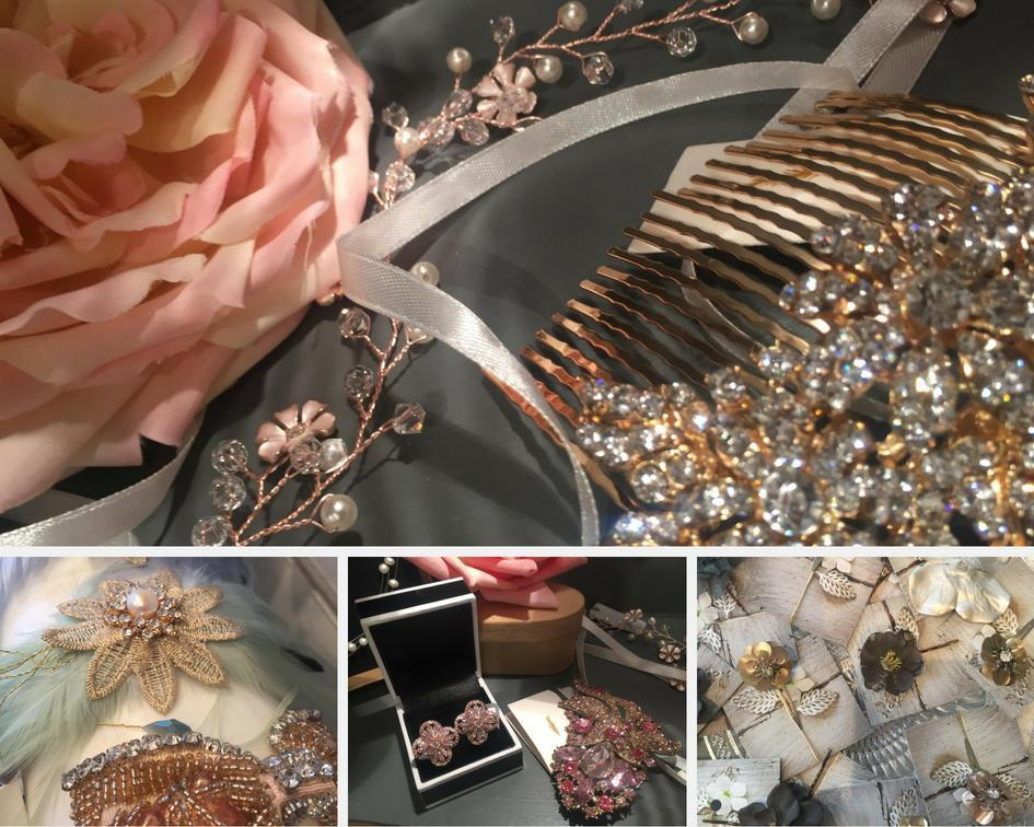 Glamorous Rose Gold Hair Accessories | Tegen Accessories