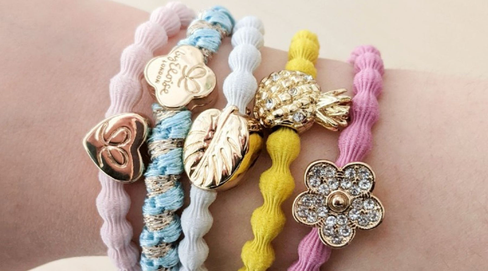 By Eloise Charm Hairbands  Bangle Bands  Strong yet Pretty Hair Ties ... 2210300dd52
