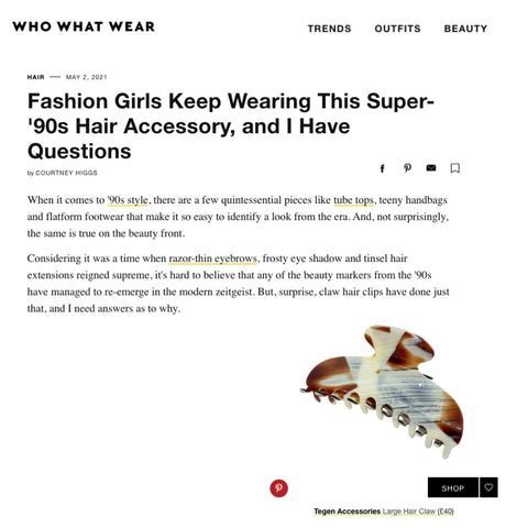 Tegen Accessories Featured in Who What Wear