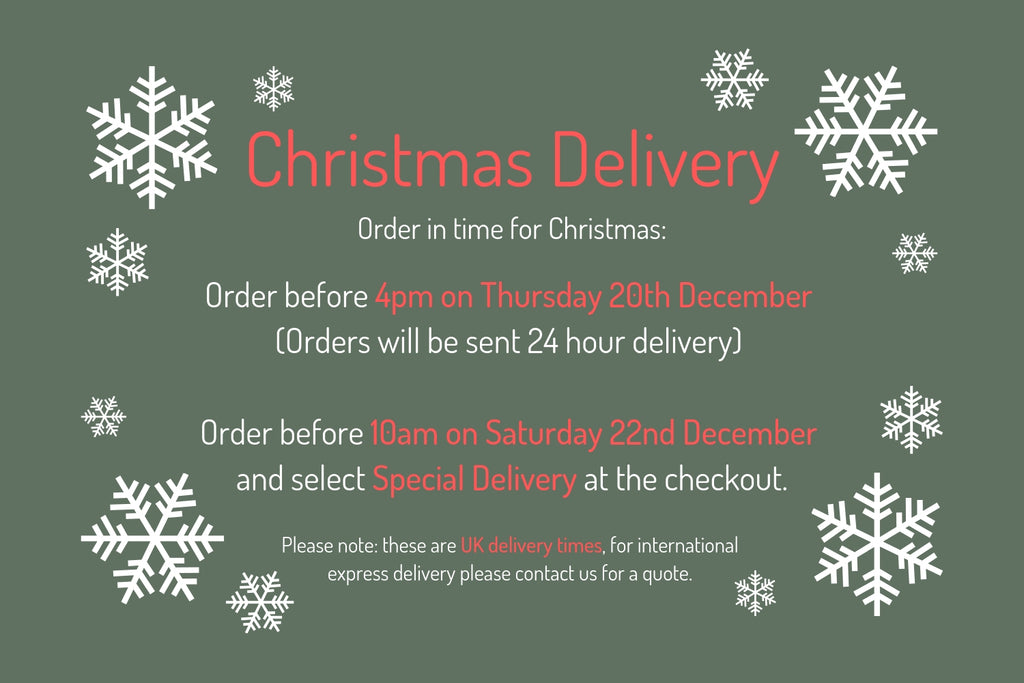 Christmas Delivery Times Tegen Accessories