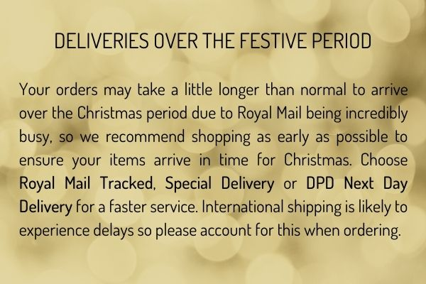 DELIVERIES OVER THE FESTIVE PERIOD