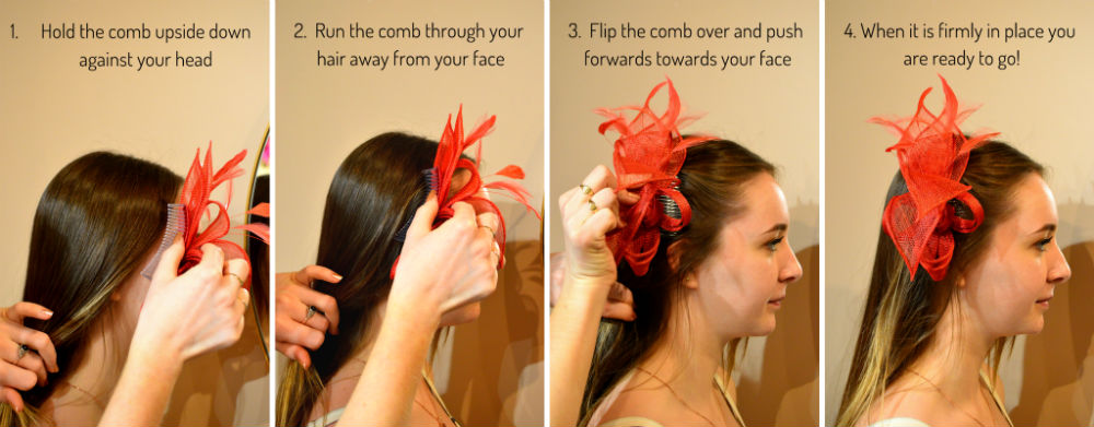 how to wear a comb fascinator tutorial