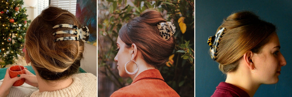 French Pleat Hair Claws-Tegen Accessories