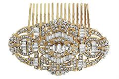 art deco gatsby bridal comb