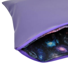 Purple Clutch Bag-Space Lining