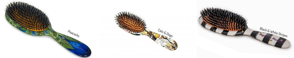 Rock & Ruddle-natural bristle hairbrush-Tegen Accessories