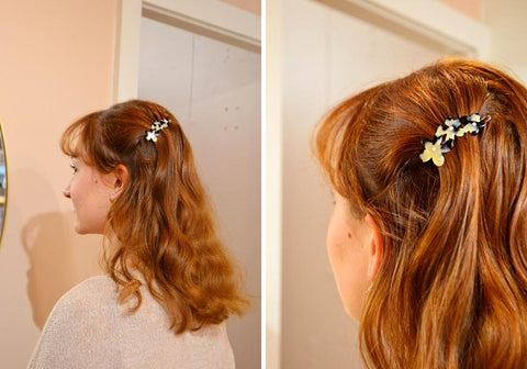 Staff Favourites Blog-Anna-Small Flower Hair Clip-White Tokio-Tegen Accessories