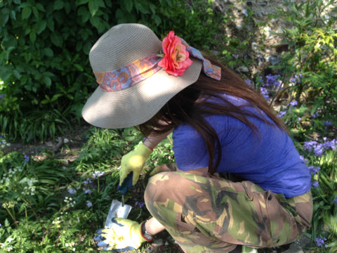 Tegen Accessories Marnie Sun Hat With Rosie Fox Hair Flower
