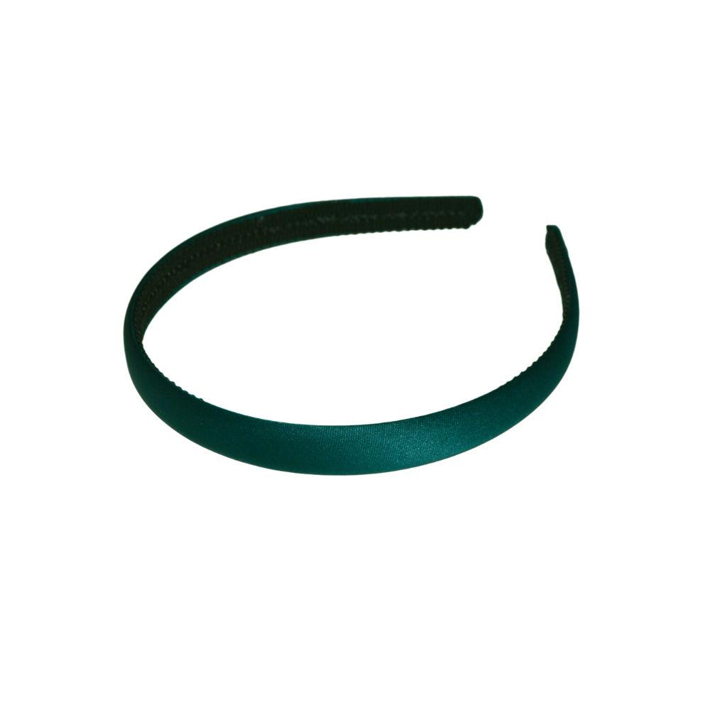 15mm Bright Satin Headband-Headbands-Tegen Accessories-Green-Tegen Accessories