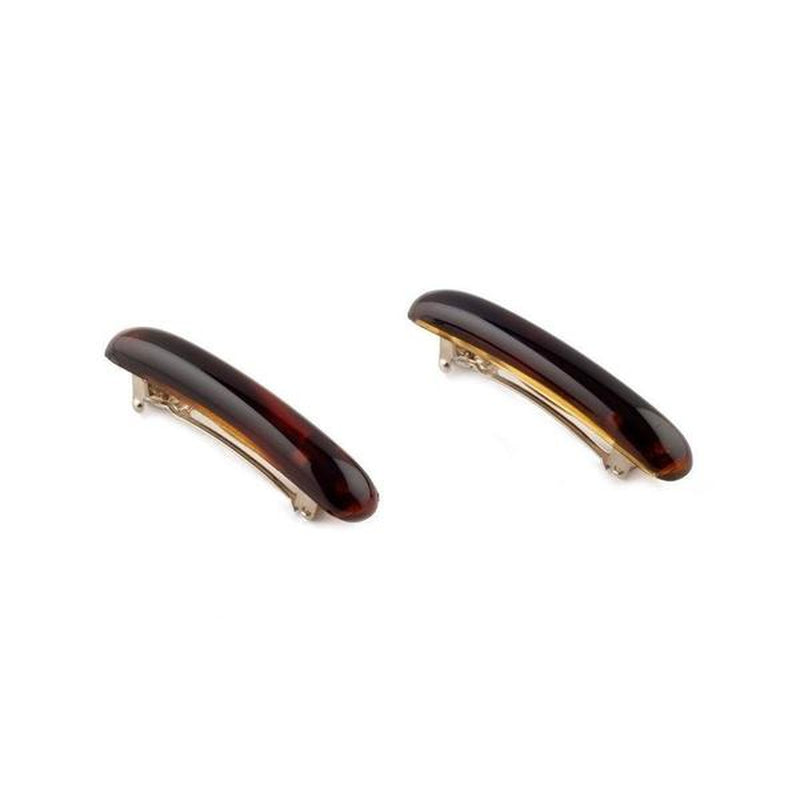 2x 6cm Mini Barrettes-Barrettes-Essentials-Tortoiseshell-Tegen Accessories