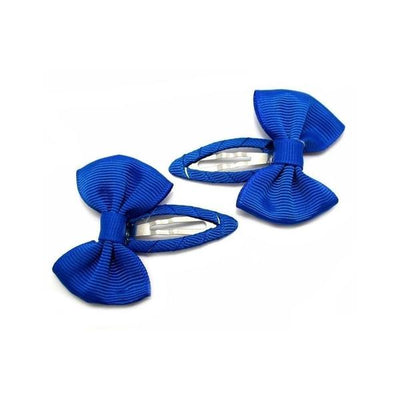 2x Bow Snap Clips-Discontinued-Blue-Tegen Accessories