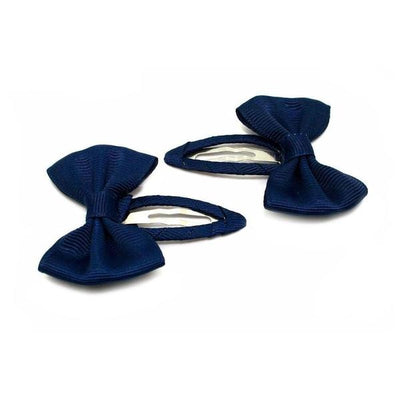 2x Bow Snap Clips-Discontinued-Navy-Tegen Accessories