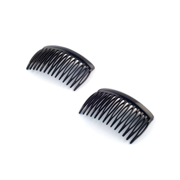 2x French Side Combs-Hair combs-Essentials-Tortoiseshell-Tegen Accessories Brown