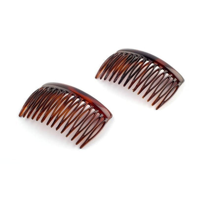 2x French Side Combs-Hair combs-Essentials-Tortoiseshell-Tegen Accessories