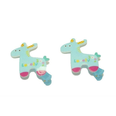 2x Giraffe Hair Clips-Discontinued-Blue-Tegen Accessories