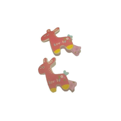 2x Giraffe Hair Clips-Discontinued-Pink-Tegen Accessories