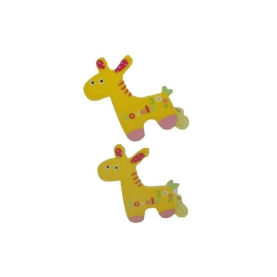 2x Giraffe Hair Clips-Discontinued-Yellow-Tegen Accessories