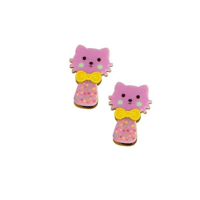 2x Kitten Hair Clips-Discontinued-Purple-Tegen Accessories
