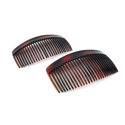 2x Large Side Combs-Discontinued-Tortoiseshell-Tegen Accessories
